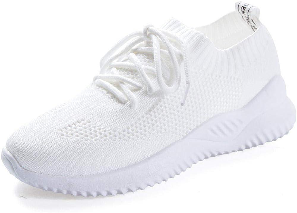 Zapatillas para Mujer Blancas, Zapatillas Deportivas, Zapatillas Deportivas, Zapatillas Ligeras, Transpirables, Zapatillas Deportivas, Mallas Transpirables (Patio pequeño)@D626 Blanco_38: Amazon.es: Zapatos y complementos