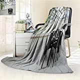 DOLLAR Blanket,double glazed atrium with modern dining table Traveling, Hiking, Camping, Full Queen, TV, Cabin, Couch, Bed Throw(60''x 50'')