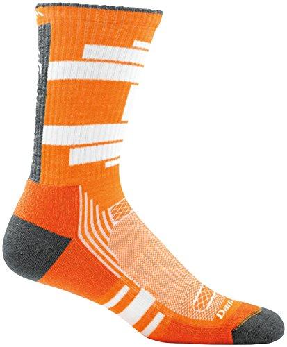 Darn Tough Press Boot Light Cushion Sock - Men's Orange Large - Light Mens Boots