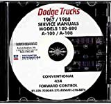 STEP-BY-STEP 1967 1968 DODGE TRUCK & PICKUP REPAIR SHOP & SERVICE MANUAL CD For A100, A108, D100, D200, D300, D400, D500, D600, D700, D800, W100, W200, W300,W400,W500, Low Cab Forward, Tilt & Crew Cab, Conventional, Power Wagon, Bus