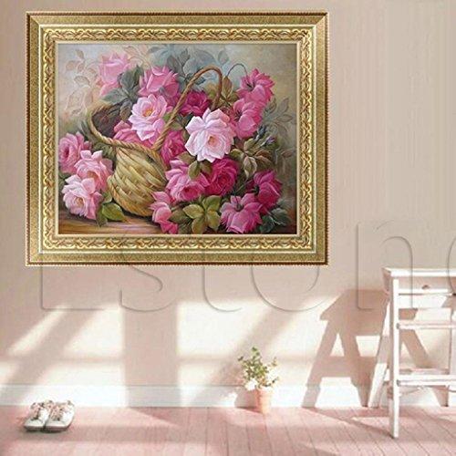 - Cross Stitch Kit, DIY 5D Diamond Embroidery Painting Flower Basket Cross Stitch Home Decor Craft