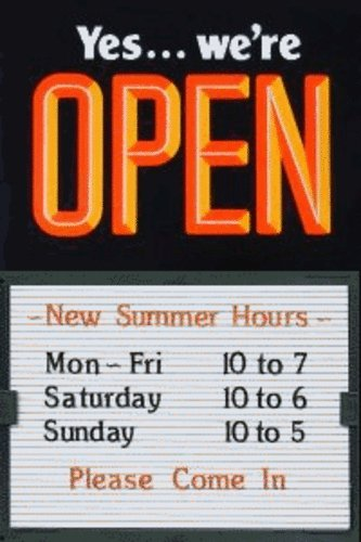 open closed 14 x 20 message slider board sign orangeblack