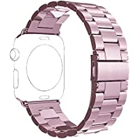 Apple Watch Band, PUGO TOP 42mm Stainless Steel Metal Replacement Classic Band for Apple Watch Series 2 Series 1