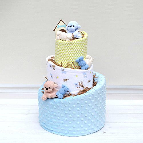 Diaper Cake for Puppy Theme Baby Shower by Baby Blossom Company