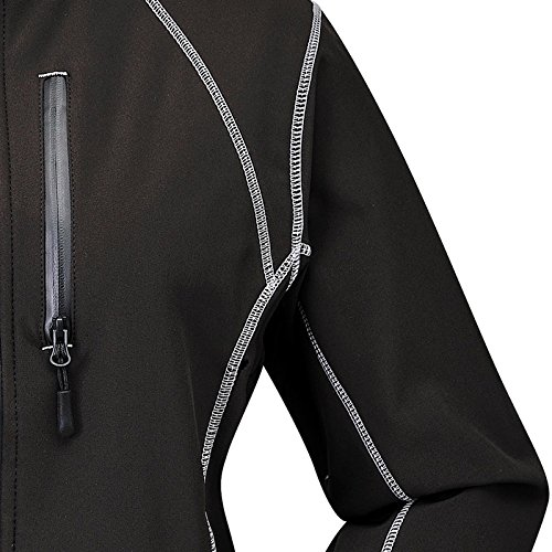 COX SWAIN women soft shell jacket Luyu - 10.000mm waterproof - 2.000mm breathable Black/Silver
