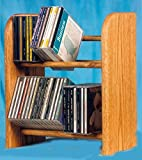 Dowel CD Rack w 2 Row (Honey Oak)