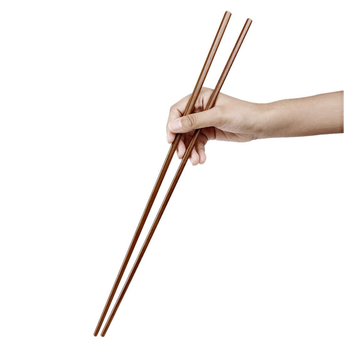 superficie liscia 2 paia ecologico e sicuro sourcingmap/® Naturale legno Bacchette cinesi alta qualit/à Hot Pot Set Regalo42cm