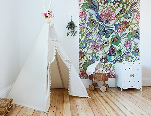 Kids teepee with poles teepee tent for kids tent play tent teepee for kids childrens teepee off-white color playhouse for indoor and outdoor using, top item by MinicampLT, 100% handmade made to order! by Mini Camp