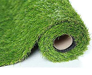 SUMC Hierba Artificial/ Estera/Césped Artificial Falsa al aire libre Césped de verde Alta densidad Alfombra de Cesped de Jardín realista Realista para Perros Mascotas Altura de la Pila de 30 mm(1M*2M)