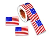 American Flag Stickers 250 Stickers Per Roll - Large Patriotic USA Flag Stickers