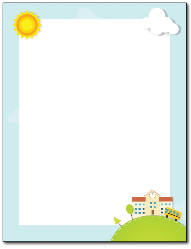 Scrapbook School Days Stationery Paper - 80 Sheets