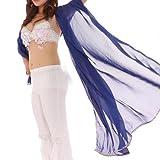 BellyLady Stunning Handmade Chiffon Belly Dance Veil, For Practice NAVYBLUE