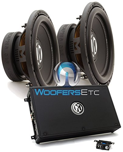 Dual 4 Ohm Super Woofer (pkg Memphis 16-PRX1.1000 Monoblock Amplifier + Pair of BR12D4 12