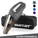 #6: SwiftJet Car Vacuum Cleaner - High Powered 4 KPA Suction Handheld Automotive Vacuum - 12V DC 120 Watt - 14.5