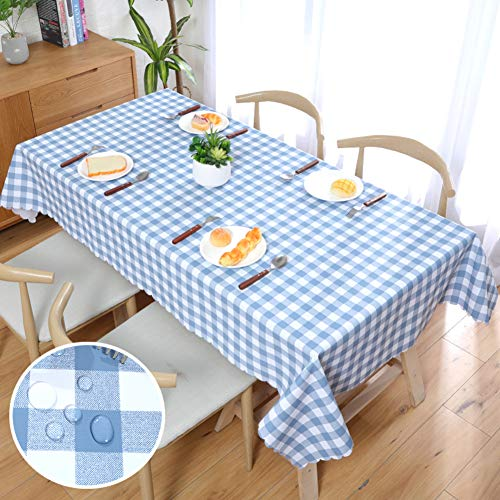 ZIFEI PVC Plastic Tablecloths, Waterproof Anti-scalding Oilcloth Heavy Duty Odorless Table Cover Rectangular Outdoor Picnic Table Linen-j 140x140cm(55x55inch) ()
