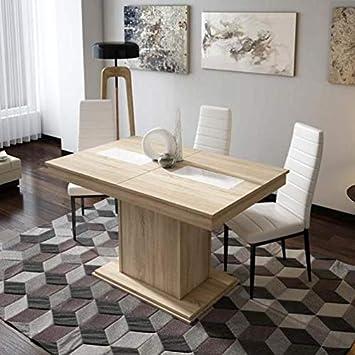 Mueble Mesa de Comedor, Mesa Moderna Extensible, mesas de ...