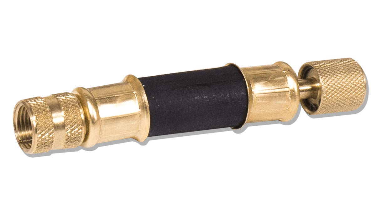 Appion MGH126-E 6'' Hose, 1/2'' Diameter, 1/2'' FL to 3/8'' FL Universal Pump-to-Manifold Connection Hose, Black