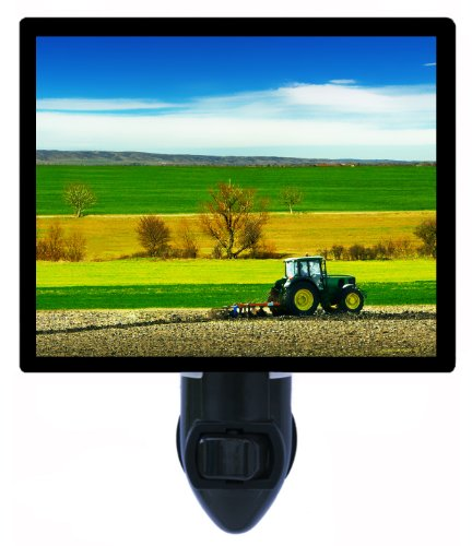 Night Light - Farming - Tractor in Field - Cultivating