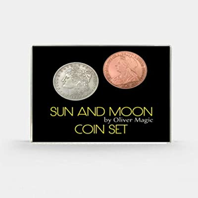 blue-ther Sun and Moon Coin Set Magic Coin Magic Tricks Illusion Close up Magic Coin Appearing/Vanish Stage Magia Props Gimmick: Toys & Games