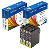 PrintOxe™ Compatible 4 Black Ink Cartridges for T200XL ( 4 Black 2001XL ) 200XL Series for use in Printers: Expression Home XP100 , XP200 , XP300 , XP310 , XP400 , XP410 , XP510 and WorkForce WF2520 , WF2530 , WF2540 . Exclusively sold by PanContinent