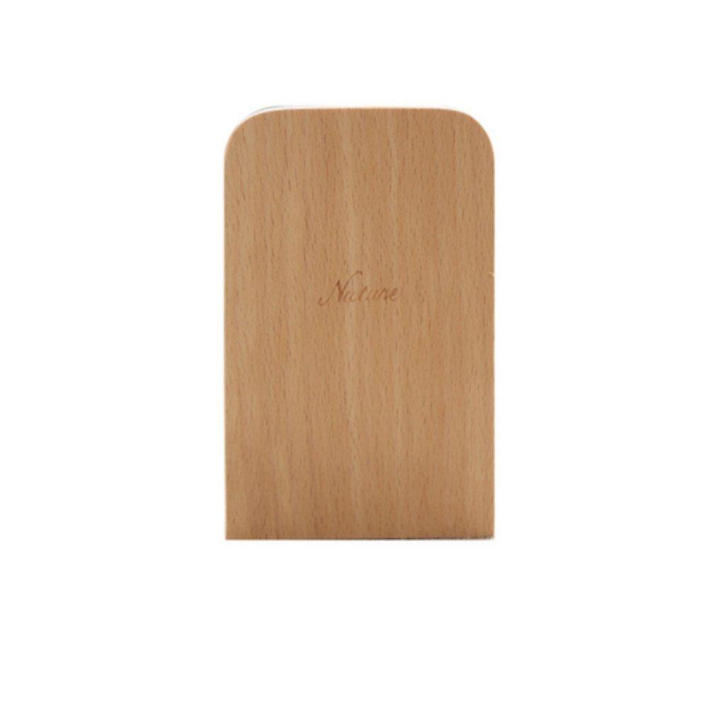 Süße Buchstützen aus Holz natur Holz Book Ständer rutschsicherer Buchstützen Ablage Halter 13* 8cm, 2 PENVEAT