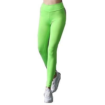 Ouneed® Femmes FLUO Sport Leggings Uni Longue