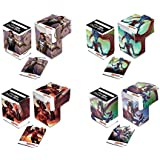 Battle For Zendikar Set of 4 New Ultra-Pro Deck Boxes Fits Magic, Pokemon, WoW, YuGiOh, Other Cards (Features All 4 Designs) Gideon, Kiora, Ulamog, Ob Nixilis MTG