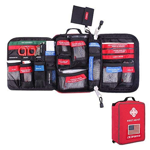 - CS Force First Aid Kit Molle Medical EMT Pouch Waterproof Case Bag for Emergency at Home, Outdoors, Car, Camping, Workplace, Hiking & Survival (FDA Approved)