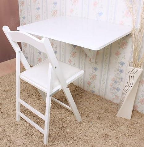 Sobuy Wandklapptisch.Sobuy Wandklapptisch Küchentisch Klapptisch Esstisch Aus Holz 75x60cm Fwt01 W Weiß
