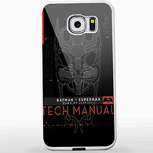 Batman V Superman Dawn Of Justice Tech Manual for Samsung S6 White case
