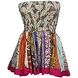 Mogul Interior Women's Versatile Mini Skirt Flirty Swinging Flare Skater Skirts Printed Silk S