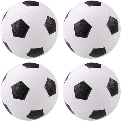LIOOBO 4 Pack de 6 Pulgadas para niños, balones de fútbol, Juguetes, niños, fútbol, Juguetes, Fiesta, favores, Suministros, Decoraciones: Amazon.es: Deportes y aire libre