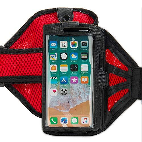 Red Black Ultimate Workout Companion Armband for HTC Desire 12s, Exodus 1, U12, X2, U11, Desire 10 (Htc Desire 510 Track Case)