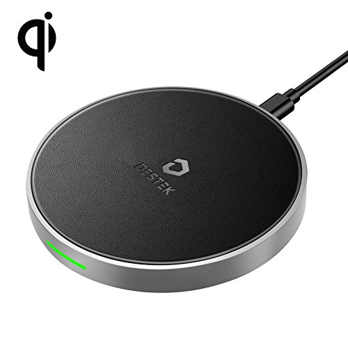 DESTEK Fast Wireless Charger for iPhone X,7.5W Wireless Charging Pad for iPhone X/8/8 Plus,10W for Samsung Galaxy S9/S9 Plus/Note 8/S8/S8 Plus, 5W for All Qi-Enabled Phones(Not with Adapter) by DESTEK
