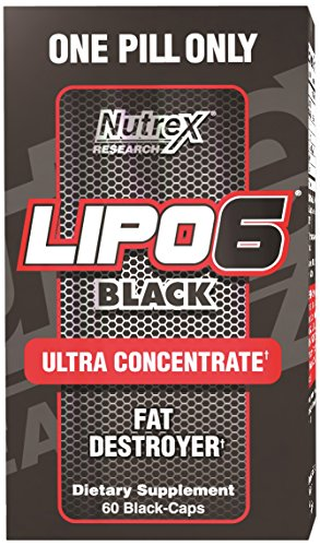 Nutrex Research Lipo 6 Black Ultra Concentrate Diet Supplement Capsules 60 Count