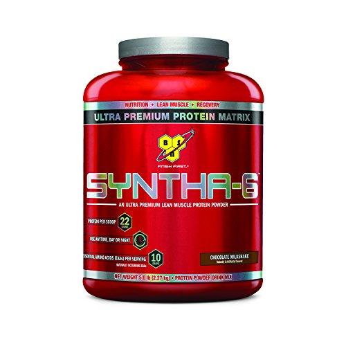 BSN SYNTHA-6 Protein Powder, Whey Protein, Micellar Casein, Milk Protein Isolate, Flavor: Chocolate Milkshake, 48 Servings by BSN