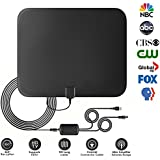 TV Antenna, 2018 NEW VERSION 60+ Miles Stronger Reception TV Antenna for Digital TV Indoor, Digital HDTV Antennas with 16FT Coax Cable and Detachable Amplifier Signal Booster Support 1080P VHF UHF