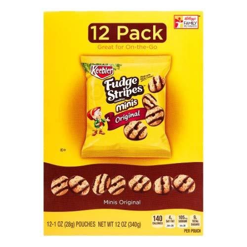 Keebler, Fudge Stripes, Cookies Minis, Original (Pack of 36)