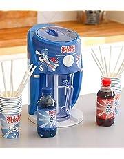 Slush Puppie Slushie Machine Set Slush Puppie Blue Raspberry Syrup, Slush Puppie Red Cherry Syrup and 4 Slush Puppie Paper Cups and Straws