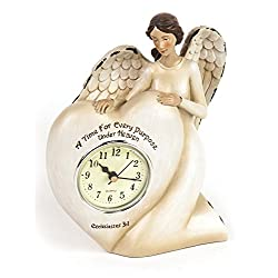 Manual A Time For Every Purpose Under Heaven Angel Mantel Desk Clock RMTEAH 6Wx2.5Dx7.25T Ivory