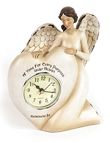 Manual A Time For Every Purpose Under Heaven Angel Mantel Desk Clock RMTEAH 6Wx2.5Dx7.25