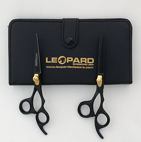 Right Hand Shears Professional Barber Razor Edge Hair Cutting Shears / Thinning Texturising Scissors with Adjustable Tension Screw and Finger Inserts Fix hook Size 6