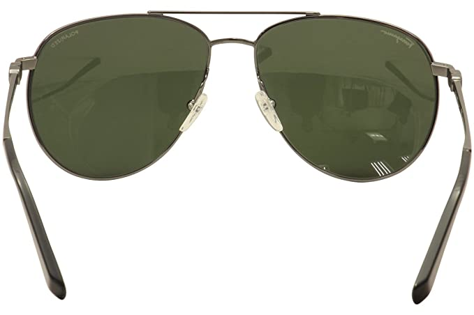 8ce951cfa9 Amazon.com  Salvatore Ferragamo Men s SF 157S P 157 S 015 Gunmetal Aviator  Sunglasses 60mm  Clothing