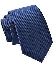 Massi Morino ® Corbata de seda para hombres, corbata de seda cosida a mano en diferentes colores - Corbata delgada Slim Fit de 6,5 cm de ancho