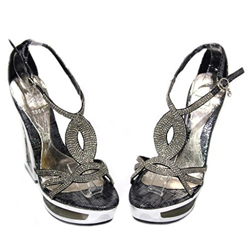 Walk Nero UK Multicolore nero Wear Black donna Sandali Gold amp; Silver 51Fzxzqp
