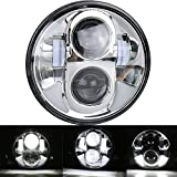 (US) OVOTOR 1 PCS 5.75inch Harley Davidson LED Headlight 5 3/4'' Motorcycle Round Projector Headlamp Bulb with DRL