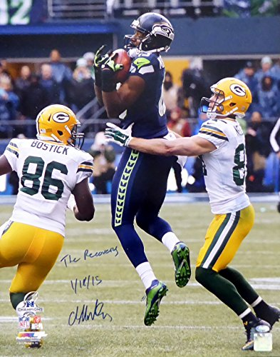 "Chris Matthews Autographed 16x20 Photo Seattle Seahawks ""The Recovery 1/18/15"" MCS Holo #21452"
