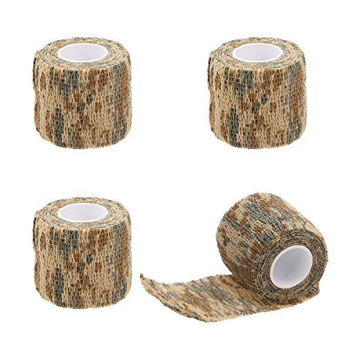Camo Desert Grips - EKIND Multi-Functional Self-Adhesive Protective Camouflage Stealth Waterproof Tape Wrap (Desert Camo, Pack of 4)