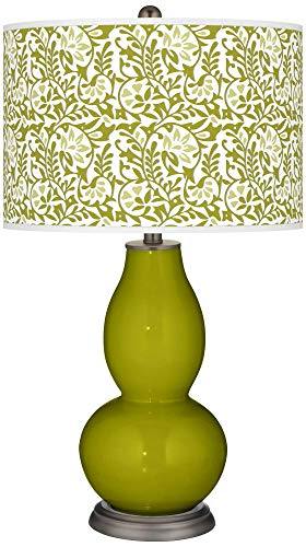Olive Green Gardenia Double Gourd Table Lamp - Color + Plus