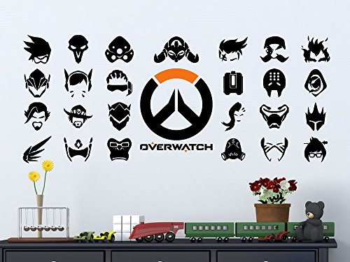 Overwatch Hero Symbols Vinyl Wall Decal (Large: 4 feet wide)